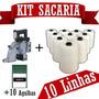 Máquina De Costurar Sacos + 10 Agulhas + 10 Linhas