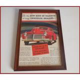 Dante42 Cuadro Publicidad Antigua Auto Chrysler Dealer 1941