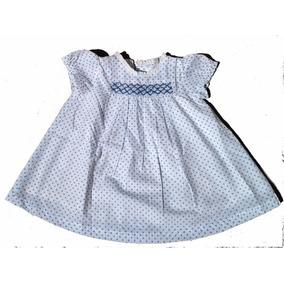 Vestido Bebé Blanco Con Lunares 9 A 12 Meses Nuevo Sin Uso