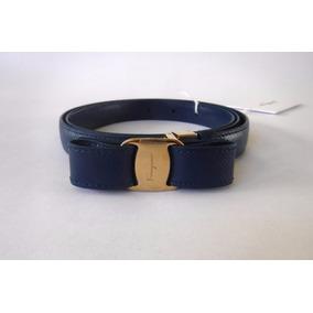 Cinturón Con Moño Salvatore Ferragamo Original Para Mujer