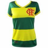 Camisa Flamengo Feminina Braziline Hexa Brasil