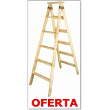 Escalera 8 Escalones Reforzada Tipo Familiar Pino Nacional -