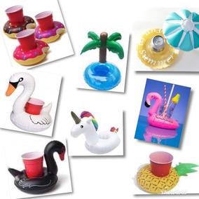 Portavaso Flamingo Inflable 8 Piezas. Envio Incluido.