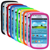 Funda Samsung Galaxy S3 Mini Silicona Blanca + Film Tricapa