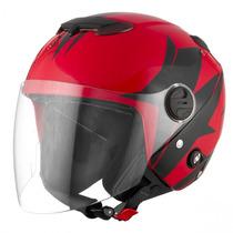 Capacete Aberto Protork New Atomic Superbike Vermelho Ducati