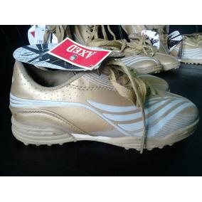 Zapatos Deportivos De Futbol Sala Color Dorados Edicion Espe