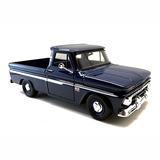 Pickup Chevrolet Antiga C10 1966 1/24 Camionete Metal Azul
