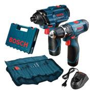 Combo Parafusadeira + Furadeira Gdr120 Gsb1200 Bateria Bosch