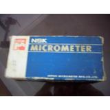 Micrometro Nsk Externo 0 - 25mm, Apreciacion 0,01mm