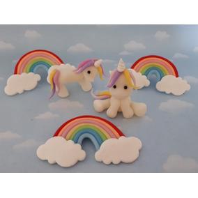 Souvenirs Arco Iris O Unicornios Ponys Porcelana Fría