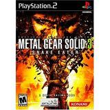 Metal Gear Solid 3 Snake Eater - Playstation 2