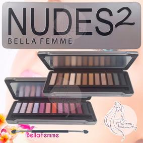 Kit 2 Paletas De Sombra Fosca - Nudes2 Estojo Naked