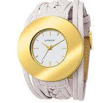 Relógio Lince Feminino Pulseira Bege Lrcb083l Frete Grátis