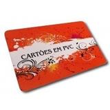 100 Cartão De Visita, Cartão Fidelidade Pvc Cristal 0,75mm