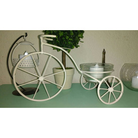 sourvenir centro mesa bicicleta shabby chic romantica vintag