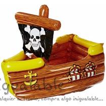 Hielera Inflable En Forma De Barco Pirata