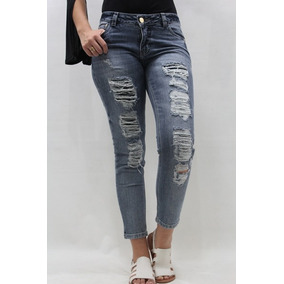 Calça Cropped Jeans Destroyed Revanche