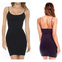 Mini Vestido Vestidos Negro Pegado Strech Ajustado Sexy