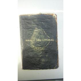 Antigua Alcancía Del Banco Del Litoral, Forma De Libro