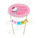 Topper Cake Tope Para Tortas Hello Kitty - Epvendedor