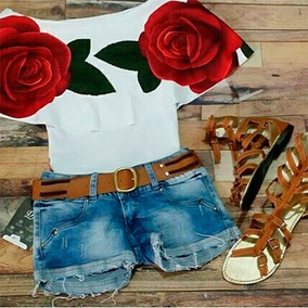 Blusa Campesina Rosas Rojas