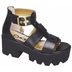 Sandala 2 Tiras Cerrado Plataforma C/pulsera - Dom560 (49)