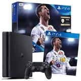 Ps4 Slim 500gb 1 Joystick Fifa 18 2018 Sony Nuevas Selladas