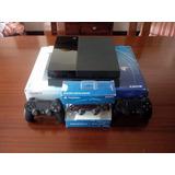 Consola Playstation 4 Con Tres Controles De 500 Gb (usado)