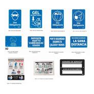 Paquete 12 Señales De Seguridad Para Contingencia Sanitaria