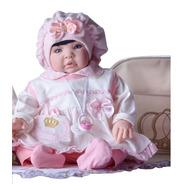 Boneca  Bebê Reborn Verdade Barata 53cm Princesa + Bolsa