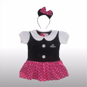 Remera Vestido Disfraz Nena Minnie Vincha Princesas Disney