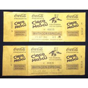 Coca-cola Y Circo De Moscú (invitación Especial) -1993-