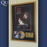 Cuadro Queen Rock Montreal Cd Estilo Oro