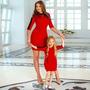 Vestidos Madre E Hija Igual A La Moda , Elegantes Casual