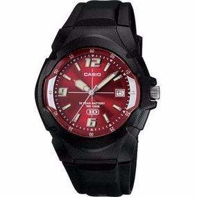 Reloj Casio Modelo: Mw-600f-4a Analogo Rojo