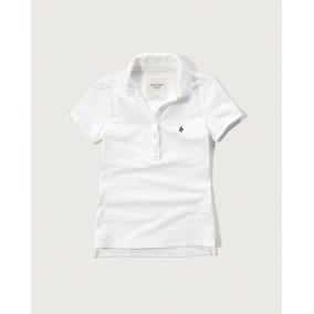 Camisa Feminina Polo Abercrombie & Fitch Original Branca