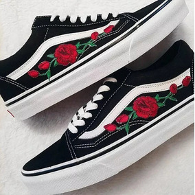 Tênis Vans Old Skool Skate Floral Lindo Original + Frete 9b58837e3779f