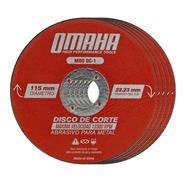 Set 100 Discos De Corte Omaha Dc-1 115 X 1 Mm Para Metales