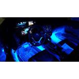 Set De Iluminacion Led Azul Tuning Para Interior De Autos