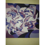 Cuadro Abstracto.pintado A Mano, Flores,calas.original Unico