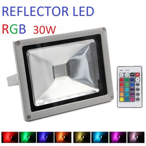 Reflector Rgb Lampara Led 30w Exterior Luminaria, Multicolor