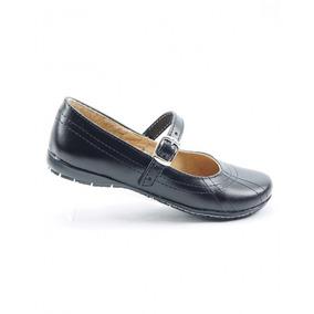 Zapato Escolar De Niña Piel Negro Marca Anel De Baez