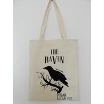 Bolsa Totebag Gabardina The Raven El Cuervo Edgar Allan Poe