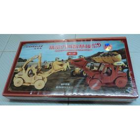 Rompecabezas 3d De Bambú, Carros Construcción Tridimensional