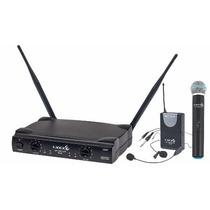 Sistema Sem Fio Lyco Uh02 Com Microfone De Mao E Transmissor