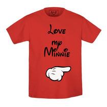 Paquete 2 Playeras Estampadas Addicted Love My Mickey/minnie
