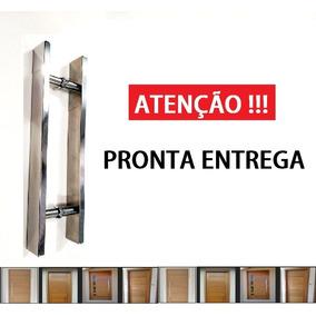 Puxador Inox Chato 60cm Porta De Madeira E Vidro Polido