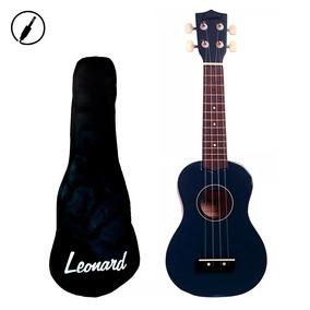 Ukelele Soprano Ukulele Leonard Azul + Funda