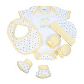 Set Complete Pañalero Babero Gorro Manoplas Zapatos Baby Min