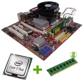 Kit Placa Mãe 775 Ddr2+core 2 Duo+2gb Ram+cooler!